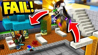 DIVING BOARD TRICK SHOT FAIL! (Minecraft Murder Mystery)