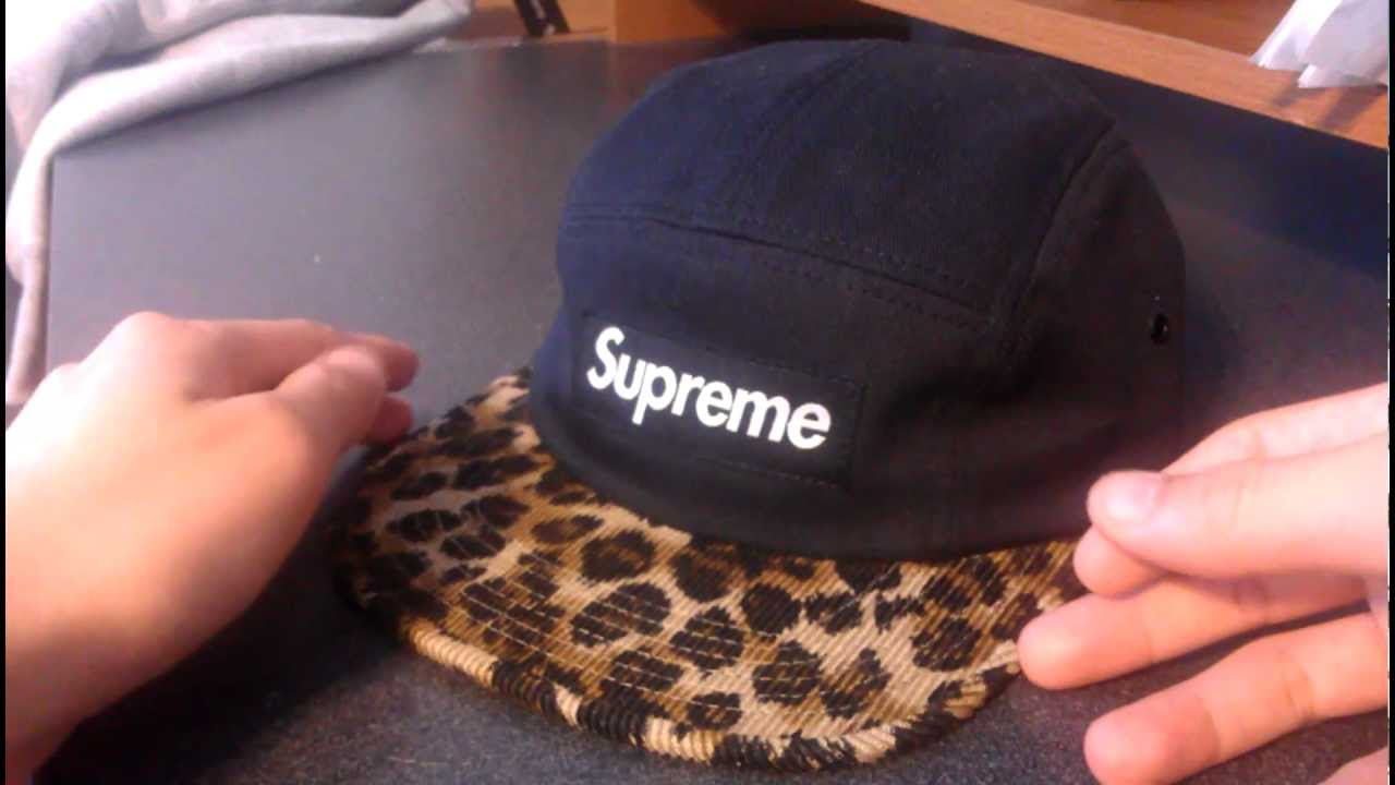 Supreme Leopard Safari Black Camp Cap Review Fall Winter 2011 Black Box  Canvas Corduroy Brim 0f0a0a4570c5