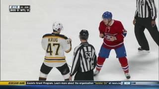 top 5 MTL Canadiens vs BOS Bruins fights!