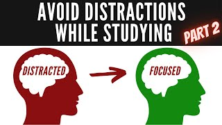 How To Avoid Distractions While Studying [mind-wandering/day dreaming]