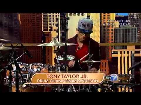 TONY TAYLOR JR NATIONAL DRUMMING CHAMPION