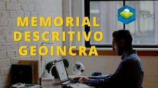 Gerando memorial descritivo para GeoIncra
