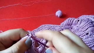 Женский ажурный сарафан. Часть 5 Вязание спицами.