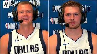 Luka Doncic & Kristaps Porzingis On Playing Together, Mavericks Interview | 2019 NBA Media Day