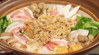 Tantan Nabe Recipe (Pork and Vegetable Hot Pot with Dandan Noodles Soup) | Cooking with Dog