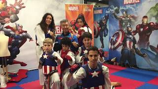 Exhibición Cho San team en Marvel Daedo
