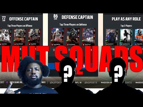 PS4 Pro MUT Squads Mondays With Subs | Madden 18