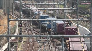 貨物列車東北貨物線と山手貨物線分岐