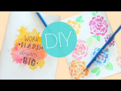 DIY Tumblr Watercolor Notebook/Journal Cover Easy DIY School