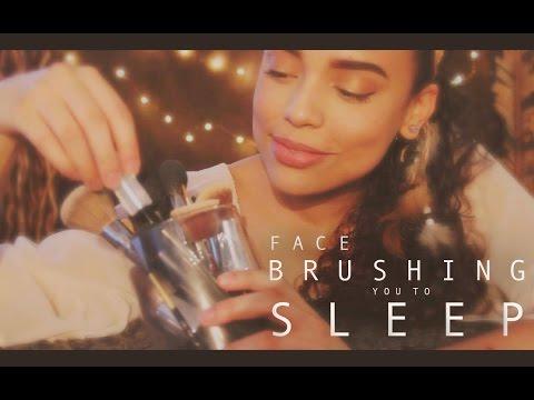 | ASMR | 😪 Face Brushing You to Sleep 💤 | Brush Stroking | Whispering |
