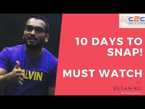 10 Days To SNAP Exam | SNAP Strategy | Optimise Your Score | SNAP Importanat Topics