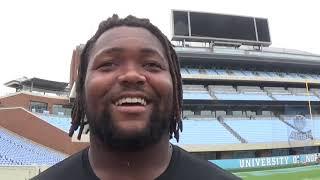 North Carolina Tar Heels Football Jeremiah Clarke Interview 9 24