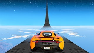WORLD'S TALLEST RAMP TO SPACE - GTA 5 Funny Moments