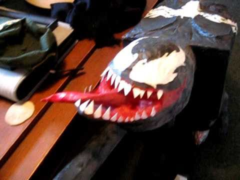 how to make a venom mask out of paper