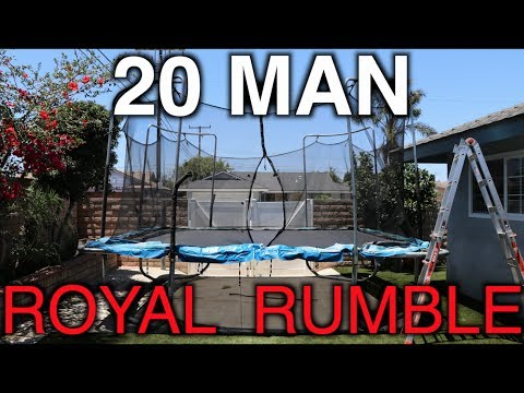 WWE - 20 MAN ROYAL RUMBLE! (Trampoline)
