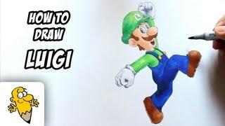 How to draw Luigi [Super Mario] drawing tutorial