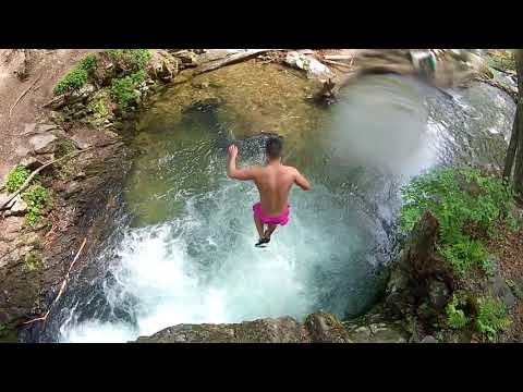 Hiking and Slides at Delaware Water Gap