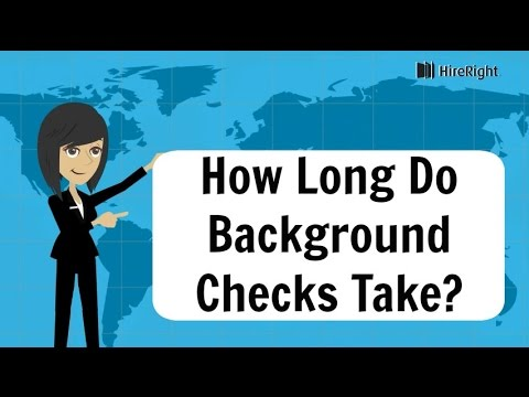How long does a background check take? | HireRight