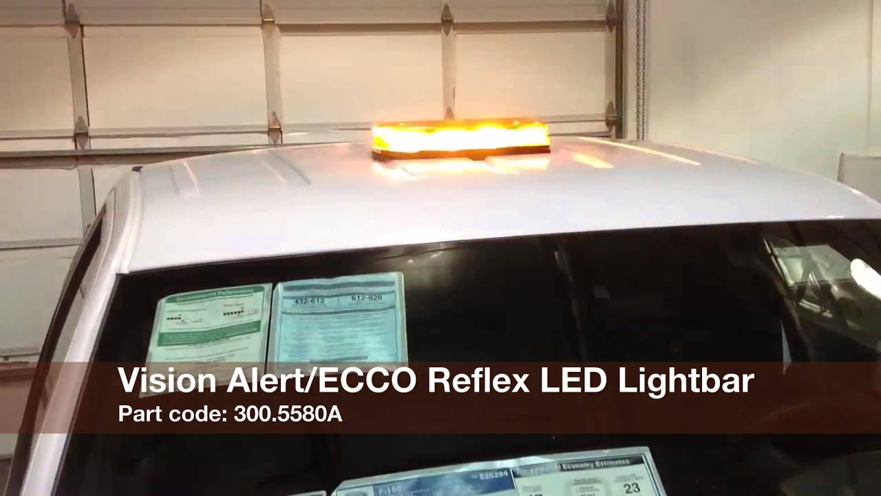 ECCO Vision Alert 5580A Reflex LED Mini Lightbar from Dun-Bri ...