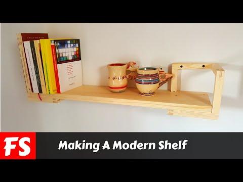 Making A Modern Shelf (FS Woodworking)