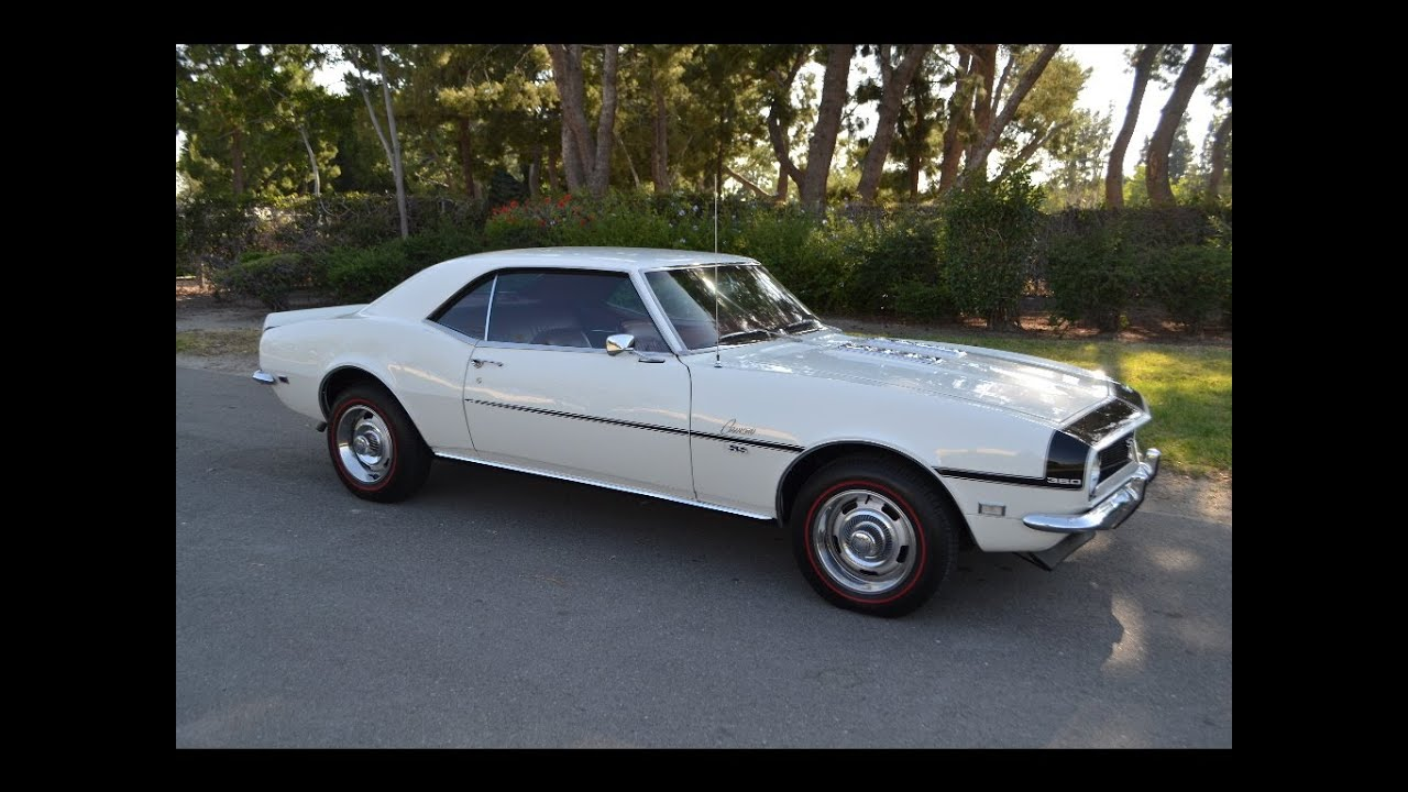 Sold 1968 Chevrolet Camaro Ss Coupe Ermine White Youtube