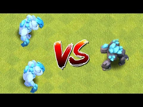 2 X Ice Golem VS. 1 X Golem - Which Is Better? Clash Of Clans New Troop Attacks! CoC Update