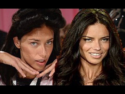 Adriana Lima Before After Makeup At Victorias Secret Fashion Show 2013