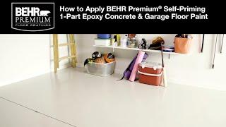 Self Priming 1 Part Epoxy Concrete