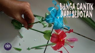 Keren !! ide kreatif membuat hiasan bunga sederhana dari sedotan minuman