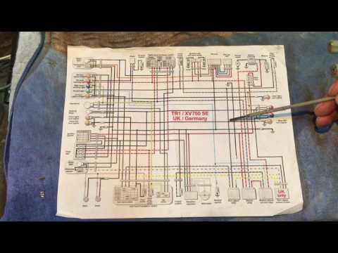 XV750 Virago Motorcycle Wiring Explained - YouTube on