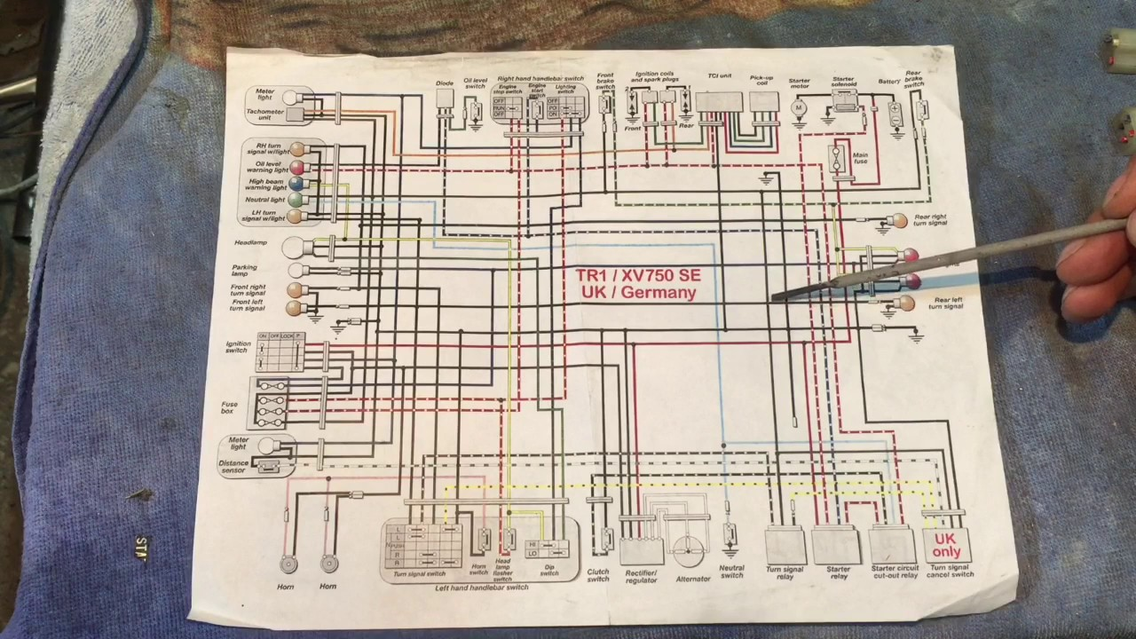Wiring Diagram As Well 650 Yamaha Motorcycle Wiring Diagrams On