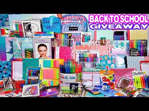 Biggest Back to School Giveaway EVER! ft School supplies, makeup & more. 2 WINNERS!