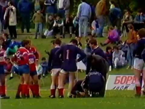 SFR Yugoslavia - CSFR Rugby Game 1991 Part 2.VOB