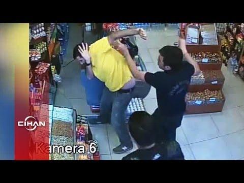 Polisten esnafa saldırı