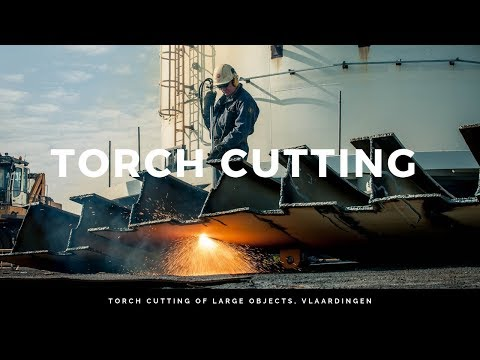 Torch cutting of large objects