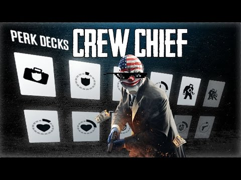 Payday 2: Crew Chief Perk Build- Perk Balance Update - The Diamond pt-br