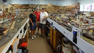 Large Model Railroad RR HO H.O. Scale Gauge Train Layout @ Sun City West Arizona awesome trains