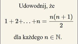 Indukcja matematyczna - omówienie na przykładzie