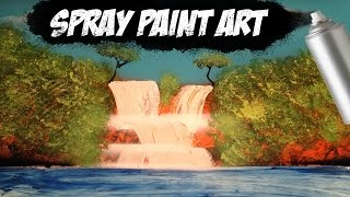 Jungle Waterfall Spray Paint Art