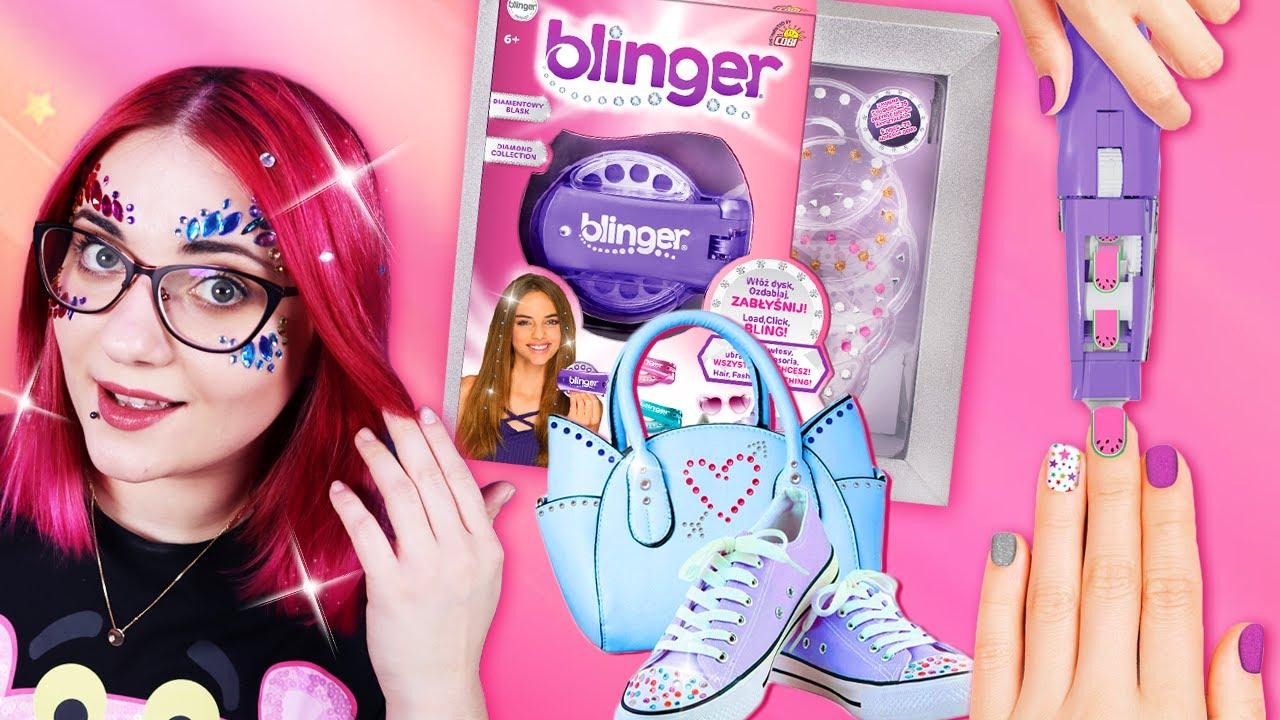 BLINGER 💎 Kryształki do ozdabiania włosów i twarzy 💅 NAKLEJKI NA PAZNOKCIE