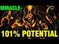 101% POTENTIAL HERO - Miracle- Shadow Fiend 7.15 - Dota 2