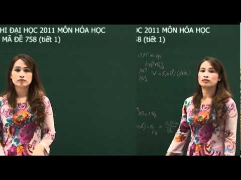 Giải đề thi đại học  môn Hóa năm 2011