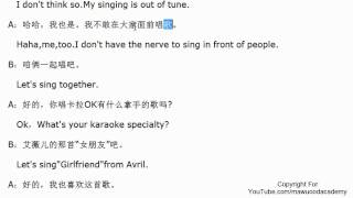 Chinese for beginners -  Go to karaoke