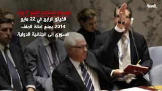 روسيا تستخدم الفيتو 5 مرات لحماية نظام الأسد