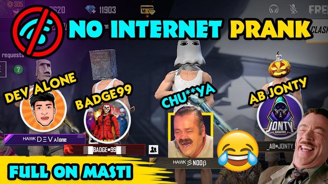 🚫 NO INTERNET PRANK WITH @Badge 99 @Dev Alone   Hawk Eye Official