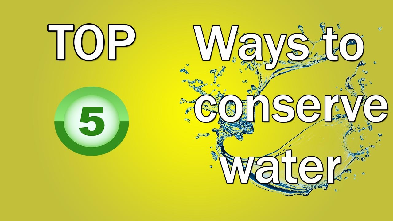 Top 5 Ways To Conserve Water