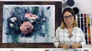 Экспресс-урок по акварельной живописи «Розы»