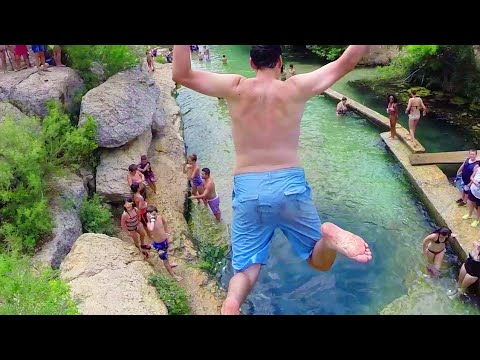 Jacob's Well Swimming Hole - Drone Footage - Wimberly TX