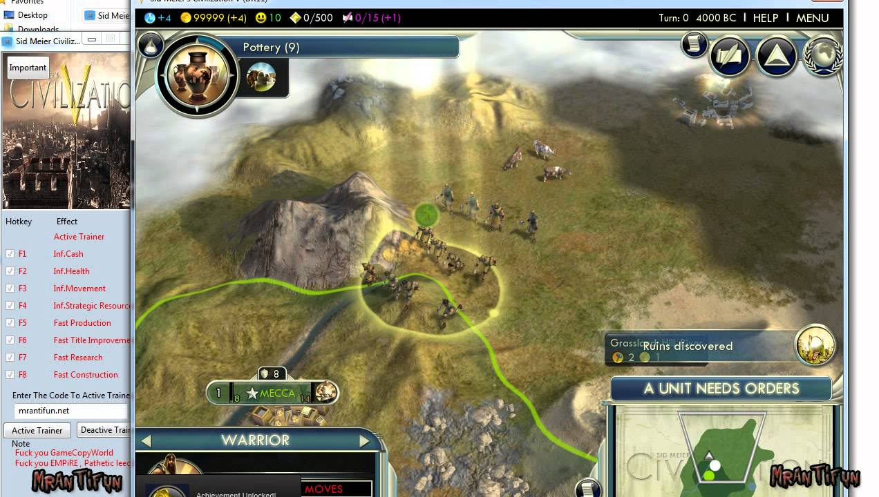 sid meier civilization 5 v103142 trainer 8 youtube