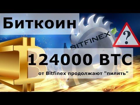 """Биткоин 124000 BTC от Bitfinex продолжают """"пилить"""". Сша, Китай и Торговая сделка"""